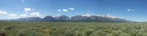 Grand Teton Range - Panorama (Plane)